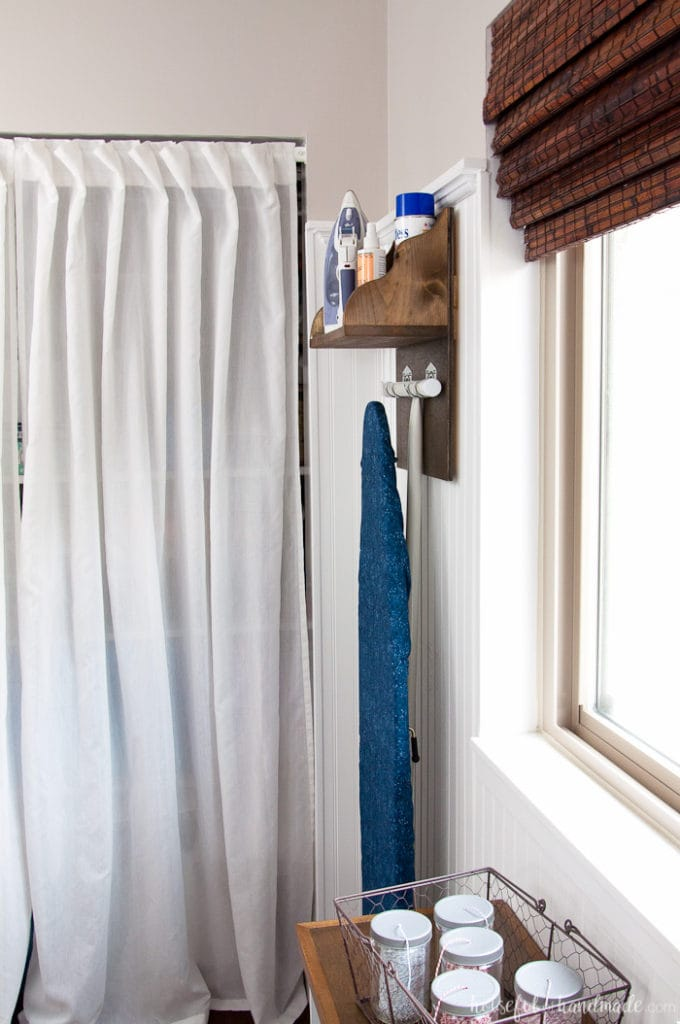 Diy Iron Holder With Ironing Board Storage Houseful Of