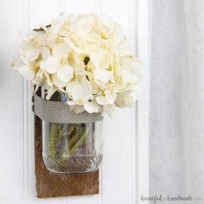 DIY Wall Vases from Upcycled Jars