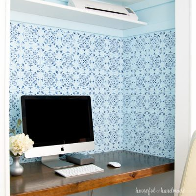 Patterned Tile Wall Stencil DIY
