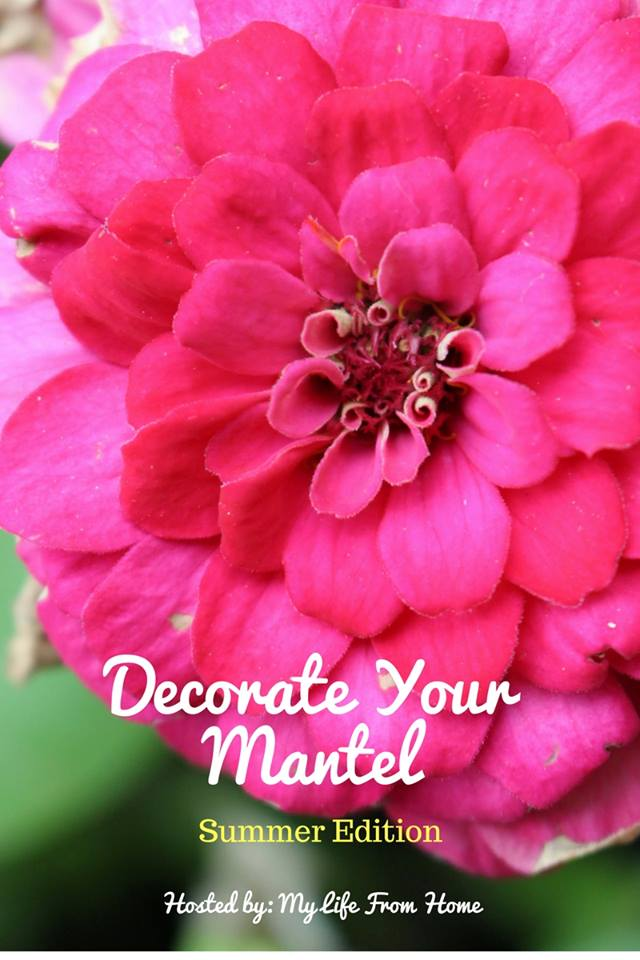Get lots of amazing inspiration for your fireplace mantel with the Decorate your Mantel series. This month we are all showing off our summer mantels! Housefulofhandmade.com