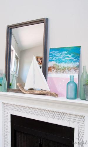 Beach House Inspired Summer Mantel Decor