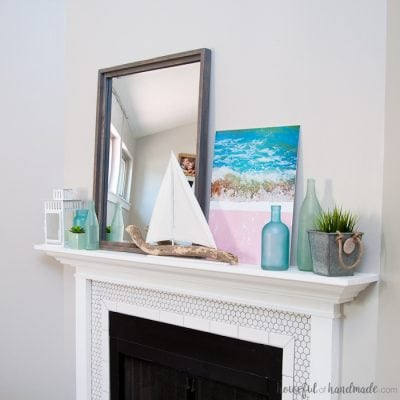 Beach House Inspired Summer Mantel Decor