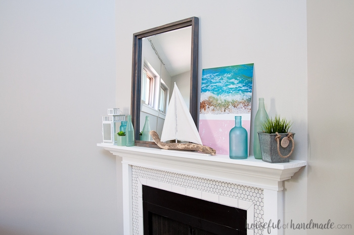 Create The Perfect Summer Mantel Decor With Found Beach Objects A Diy Driftwood