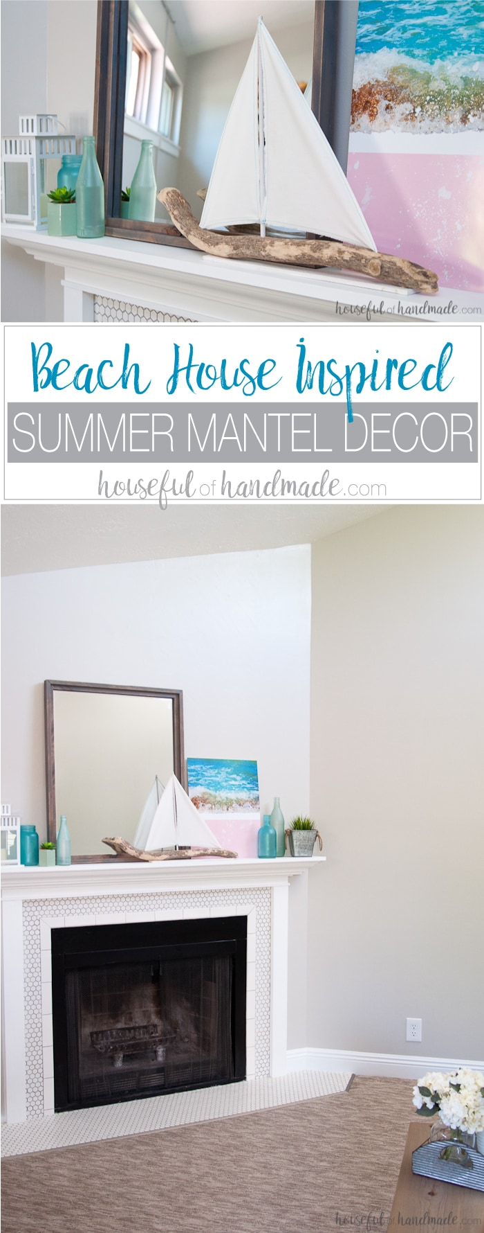 Beach House Inspired Summer Mantel Decor Houseful Of Handmade