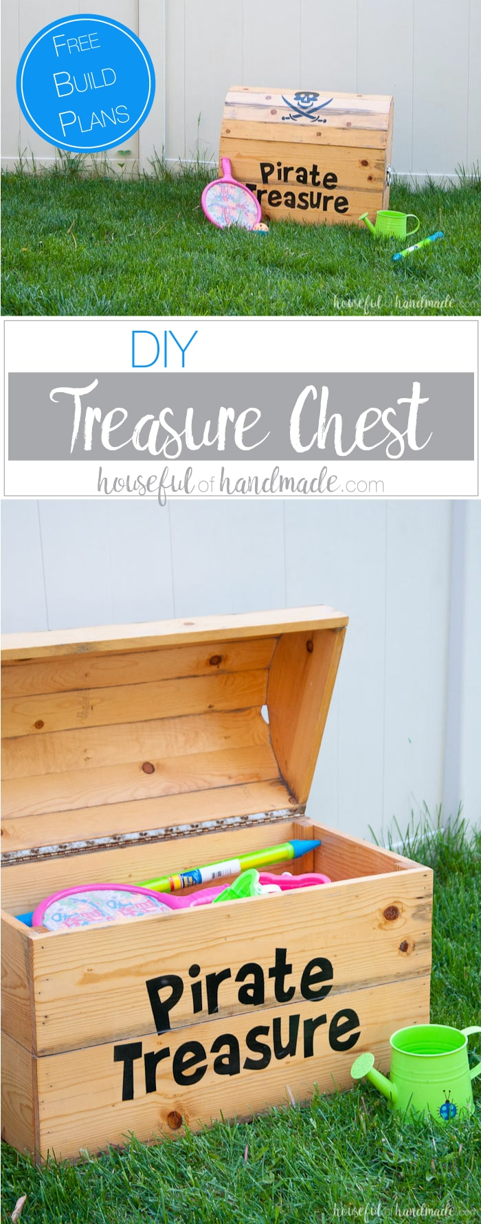 Build The Perfect Outdoor Toy Storage. This DIY Treasure Chest Toy Box Is  Big Enough