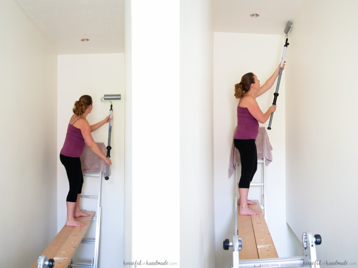 how to paint tall walls a houseful of handmade