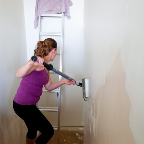 How to Paint Tall Walls