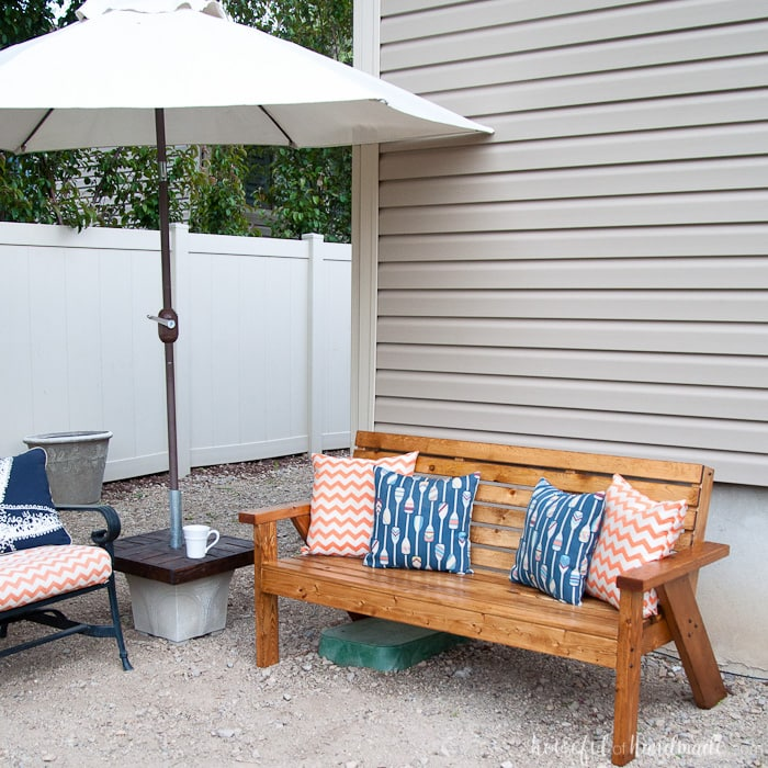 Slatted Outdoor Sofa Build Plans