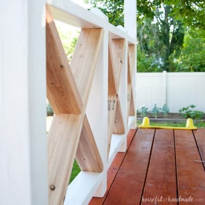 Our DIY Playhouse: The Railing