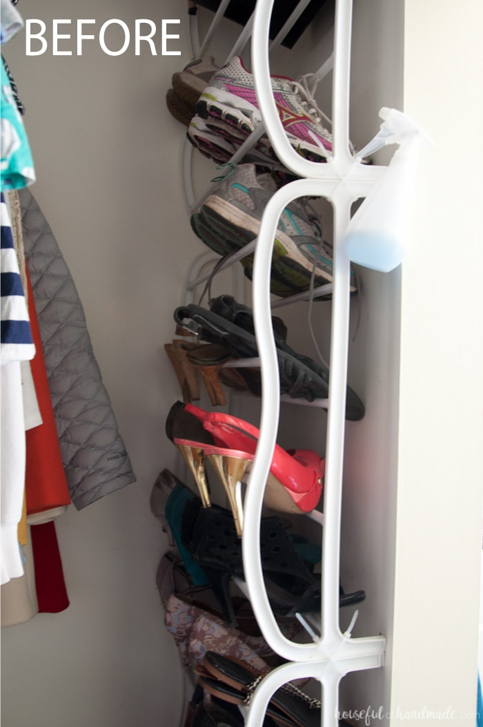 Can you transform an entire room with only $100 in just 1 month? You bet you can! This month I will be creating a DIY custom master closet for lots of style and organization. Follow along as I share lots of DIYs and budget decorating ideas. Housefulofhandmade.com | $100 Room Challenge | Budget Home Remodel Ideas | Home Decor | Room Renovation Ideas | Master Bedroom Closet | Custom Closet Organization