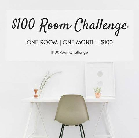 Can you transform an entire room with only $100 in just 1 month? You bet you can! See how your favorite bloggers take on the challenge and share lots of DIYs and budget decorating ideas. Housefulofhandmade.com | $100 Room Challenge | Budget Home Remodel Ideas | Home Decor | Room Renovation Ideas