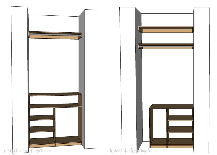 Can you transform an entire room with only $100 in just 1 month? You bet you can! This month I will be creating a DIY custom master closet for lots of style and organization. Follow along as I share lots of DIYs and budget decorating ideas. Housefulofhandmade.com   $100 Room Challenge   Budget Home Remodel Ideas   Home Decor   Room Renovation Ideas   Master Bedroom Closet   Custom Closet Organization