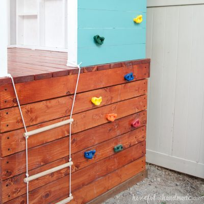 Our DIY Playhouse: The Slide & Climbing Wall
