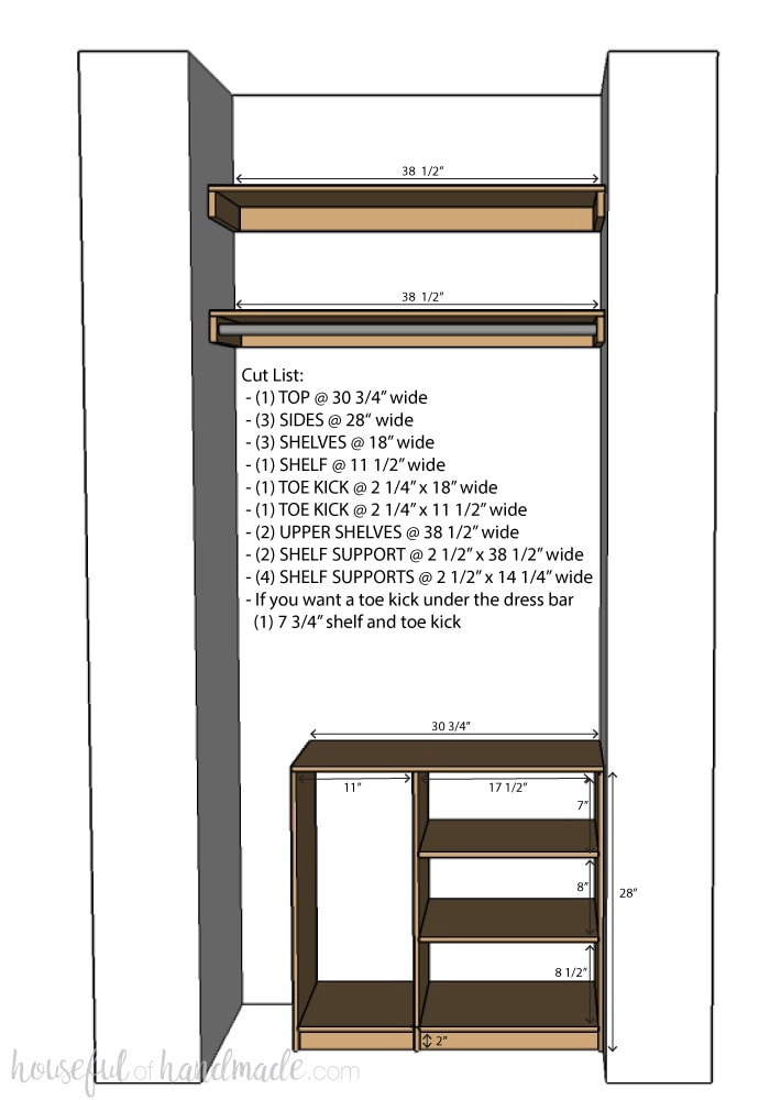 Diy Plywood Closet Organizer Build Plans Page 2 Of 2
