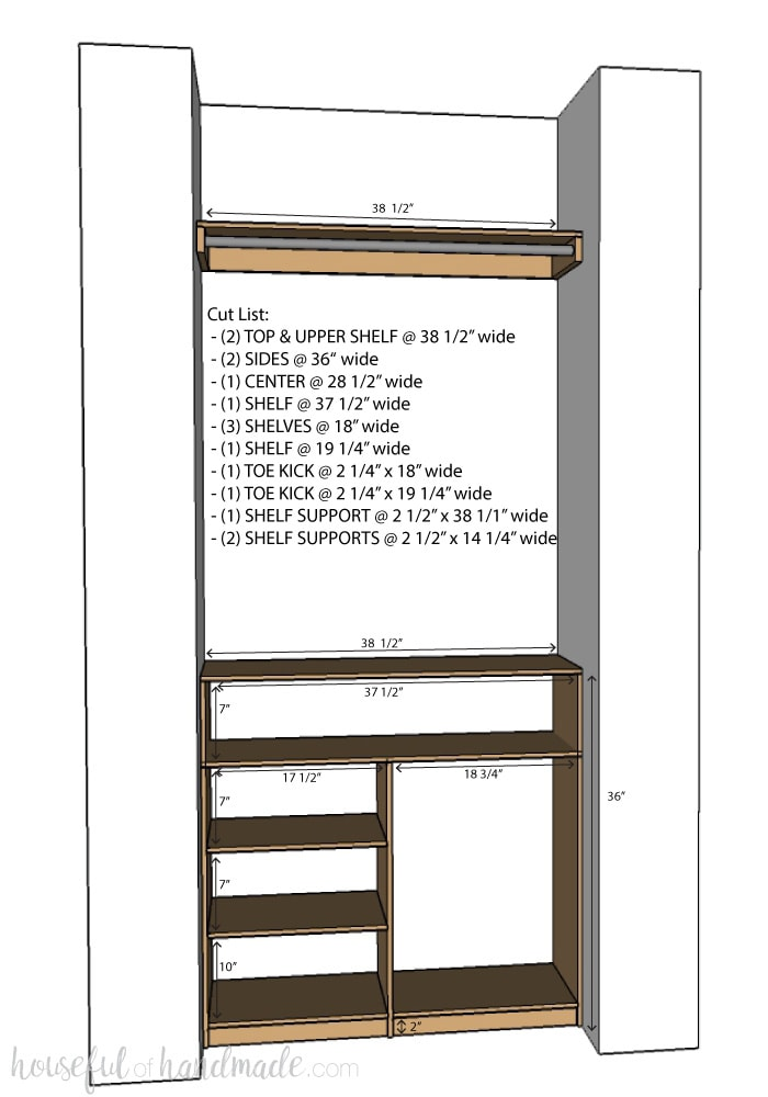 Create Custom Closet Organization On A Budget With The Diy Plywood Organizer Build Plans