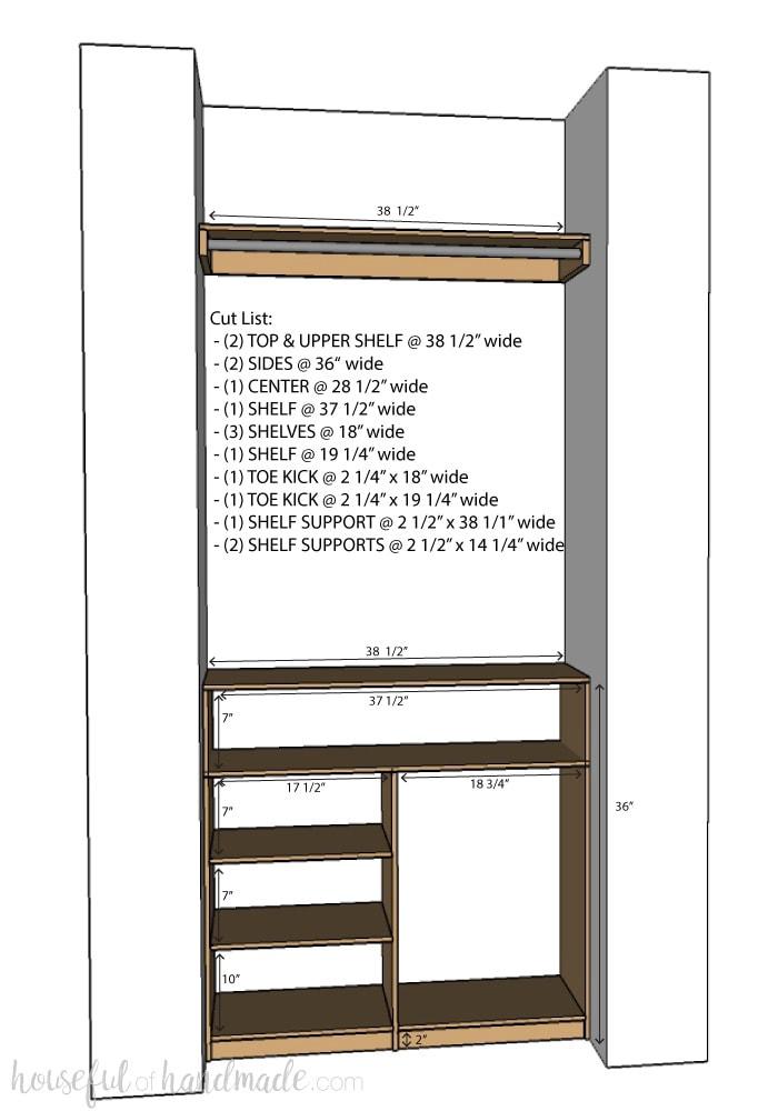 Diy Plywood Closet Organizer Build Plans Houseful Of Handmade