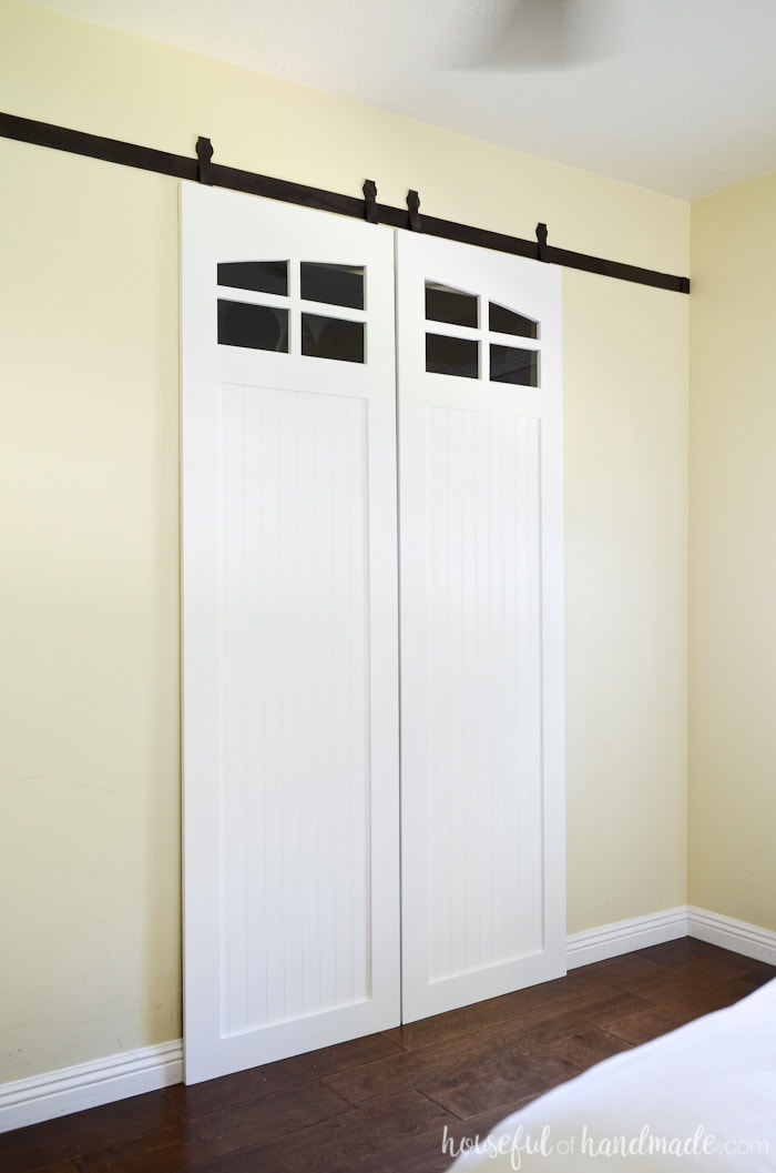 Closet sliding door custom closet sliding doors by closet for Bedroom closet barn doors