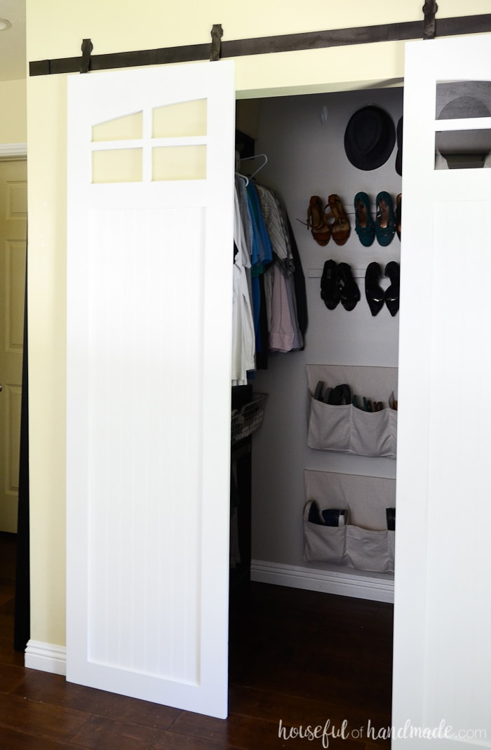closet sliding barn doors build plans a houseful of handmade. Black Bedroom Furniture Sets. Home Design Ideas