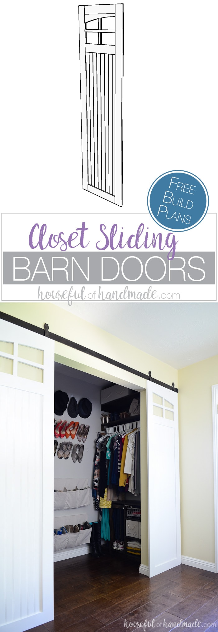 Update Your Old Bifold Or Mirrored Closet Doors With These Sliding Barn  Doors. The Curved