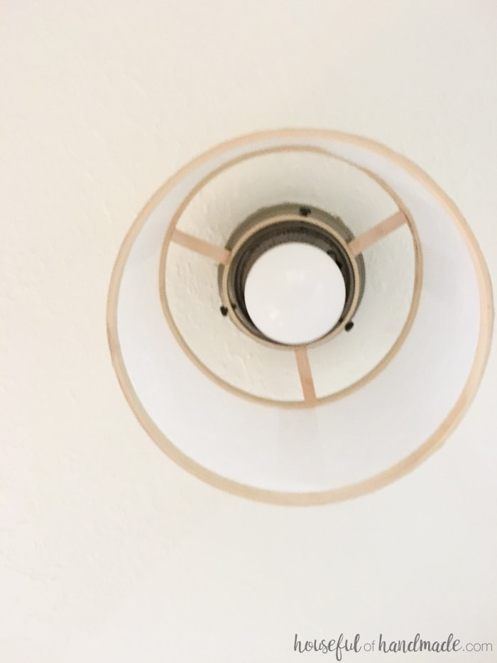 Who would have thought you could DIY a light? I love this easy drum ceiling light fixture from Housefulofhandmade.com