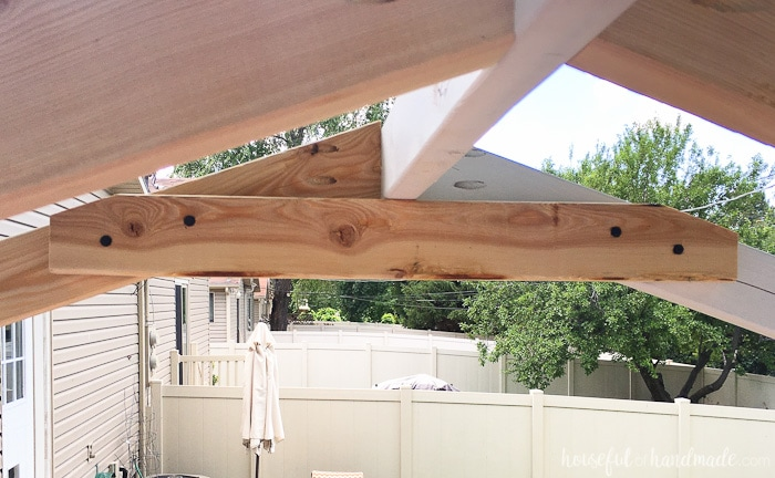 I love how this open roof turned out. DIY playhouse plans on Housefulofhandmade.com