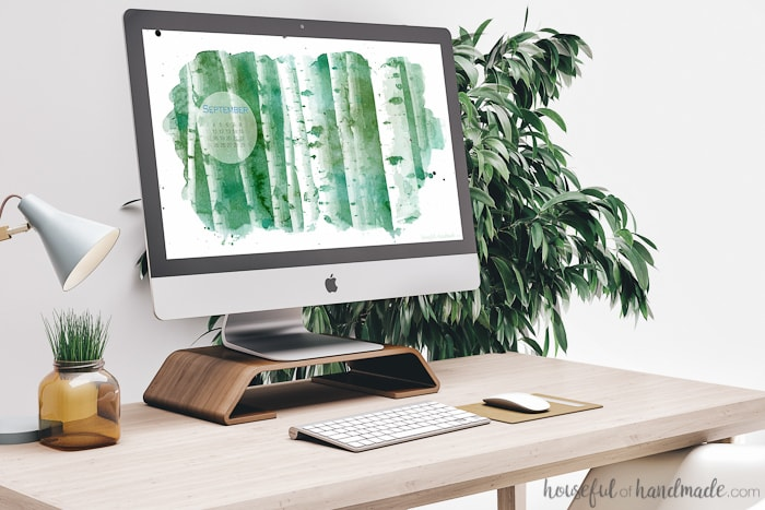 I love this digital wallpaper! The aspen trees are perfect for fall. Download the free digital backgrounds today! Housefulofhandmade.com