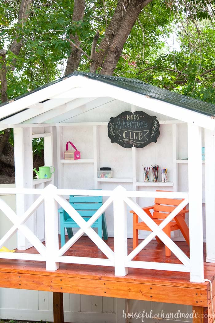 How To Build An Outdoor Playhouse For Kids Houseful Of Handmade