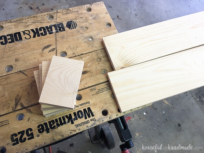 Learn how to make a window cornice box from a 1x6 board! Housefulofhandmade.com