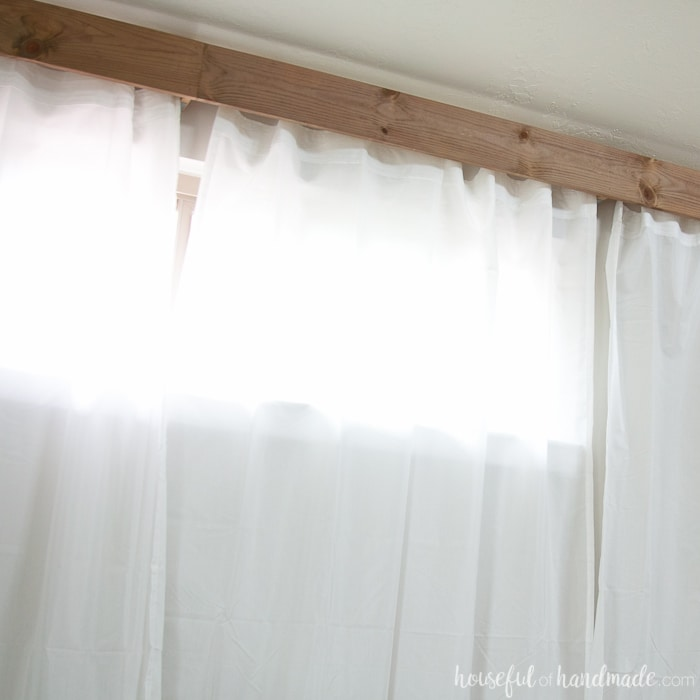 Create a statement in any room with this easy how to make a wooden valance. Housefulofhandmade.com
