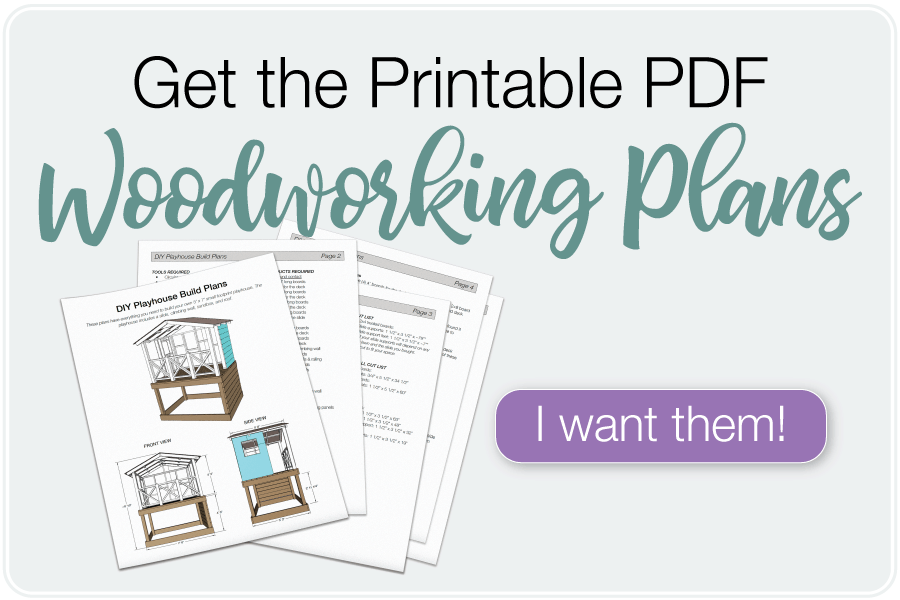 Button to purchase printable PDF plans for the DIY playhouse.