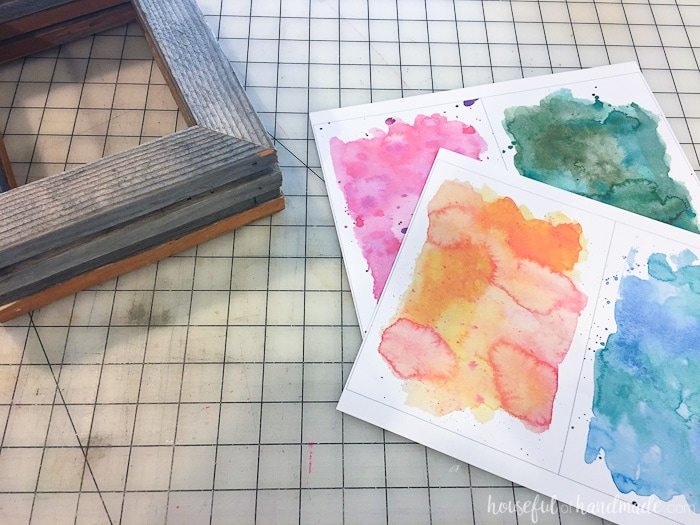 Printable watercolor backgrounds make this DIY rustic fall decor even easier. Housefulofhandamde.com