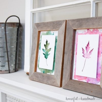 Rustic Fall Decor: Watercolor Leaf Art