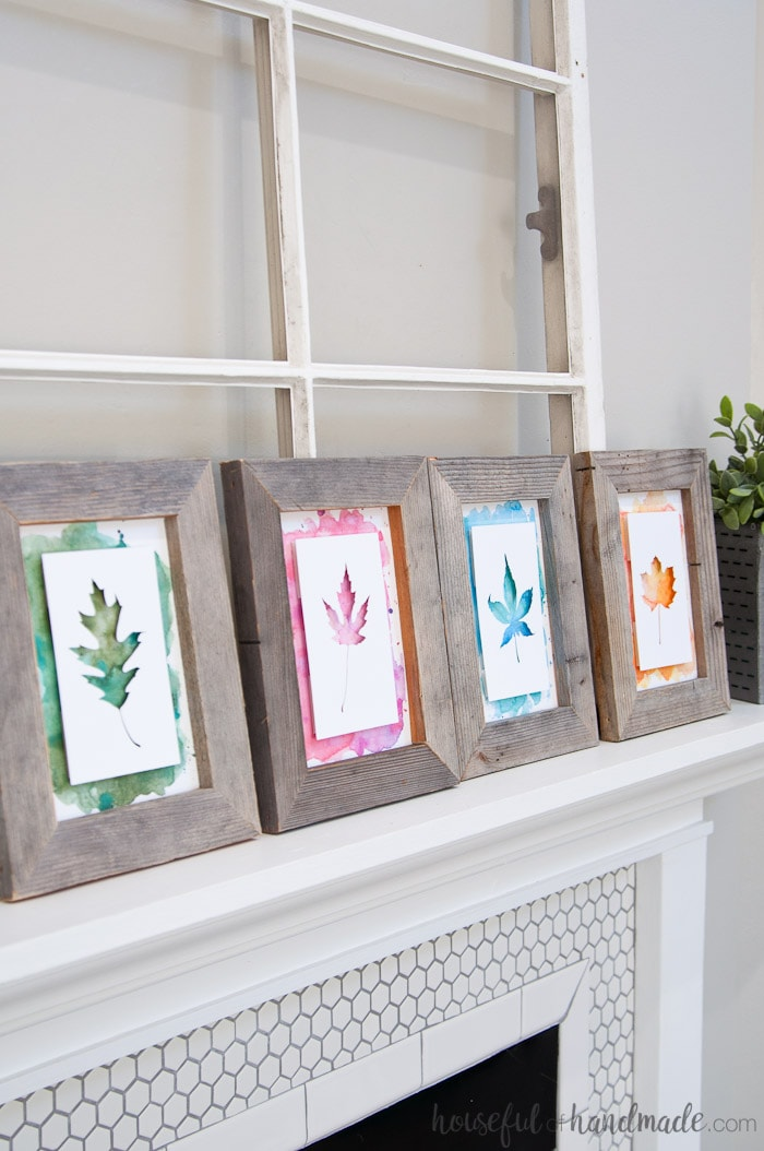 Who says you can't use colors in your rustic fall decor? These beautiful watercolors are perfect for fall decor. Housefulofhandmade.com
