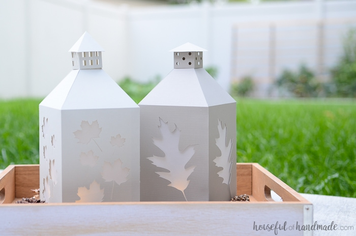 These DIY paper lanterns for fall are the perfect way to decorate without breaking the budget. Make them any color you want. Housefulofhandmade.com