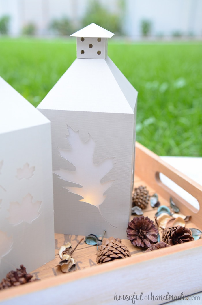 Diy candle lanterns for fall a houseful of handmade