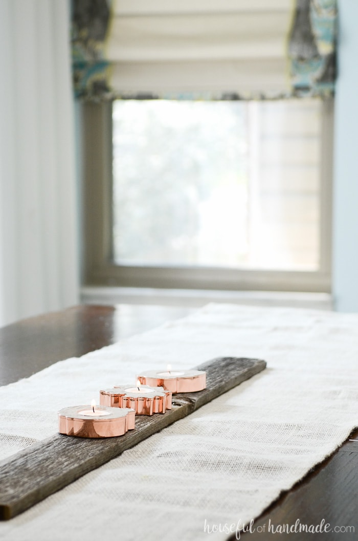 Copper is the perfect metal for fall! Add a bit of copper to your home decor with these easy copper candle holders. Housefulofhandmade.com