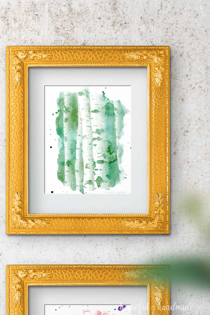 I love these free printables! The aspen tree art is gorgeous. Housefulofhandmade.com
