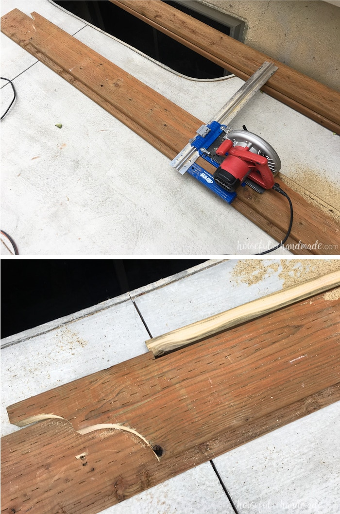 Cut the beam to fit under the angled boards. How to build a patio pergola attached to the house. Housefulofhandmade.com