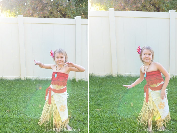 This DIY Disney Moana costume is my new favorite Halloween costume. Get the full tutorial at Housefulofhandmade.com