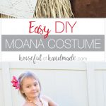 Create the perfect princess Halloween costume with this easy DIY Moana costume. This easy to make Halloween costume is perfect for your island princess. Housefulofhandmade.com