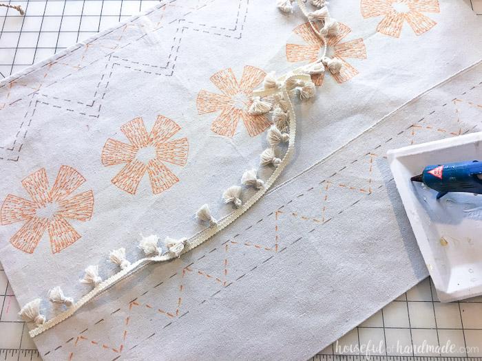 This beautiful tassel detail makes the Disney Moana costume look perfect for an island princess. Housefulofhandmade.com