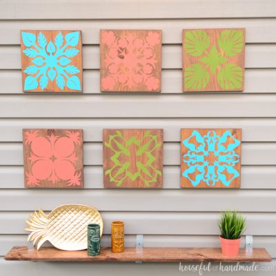 Easy Tropical Wall Art DIY