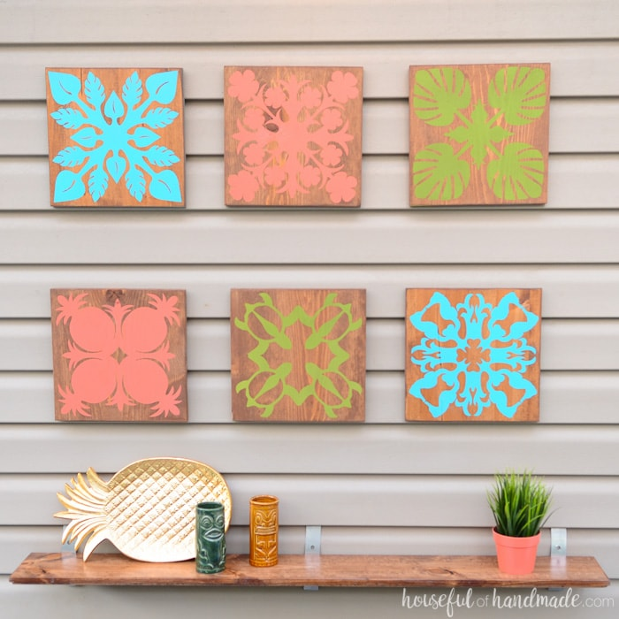 Create the perfect island decor with these Hawaiian inspired designs. This tropical wall decor is perfect for creating a tropical oasis. Housefulofhandmade.com