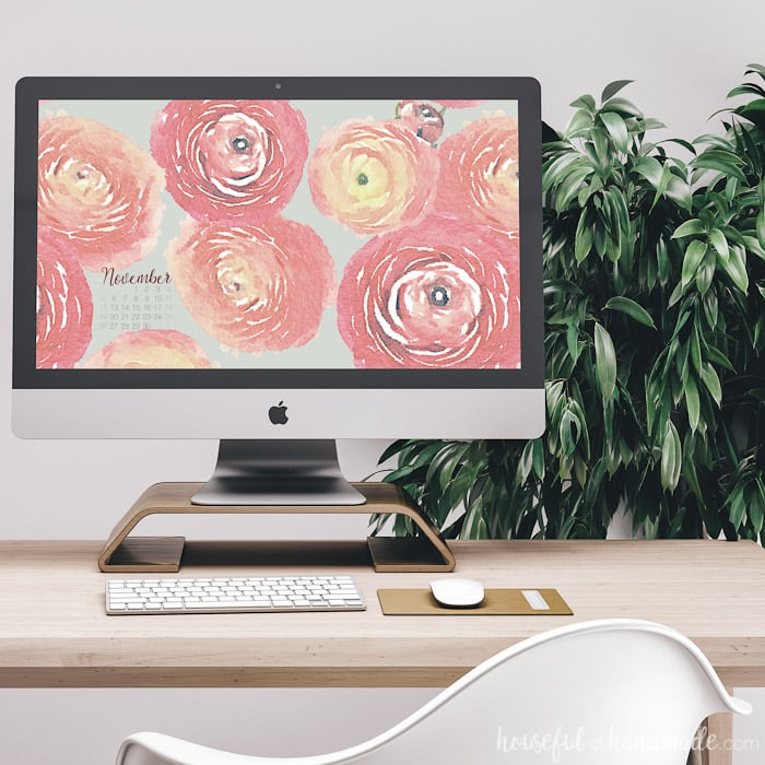 This beautiful floral print is the perfect digital wallpaper for fall. Soft colors mimic the warmth of the season. Download them today at Housefulofhandmade.com.