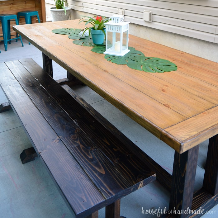 Outdoor Dining Table Plans Houseful Of Handmade