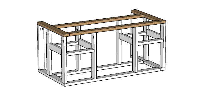 This portable kitchen island is wonderful for the barbecue area. And it's super easy to build. Housefulofhandmade.com