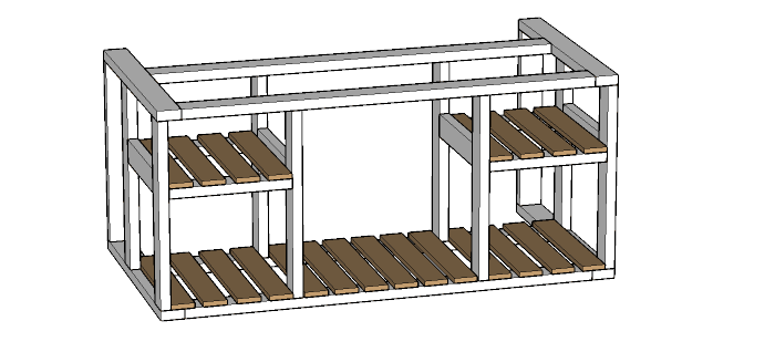 Outdoor Kitchen Island Build Plans Houseful Of Handmade