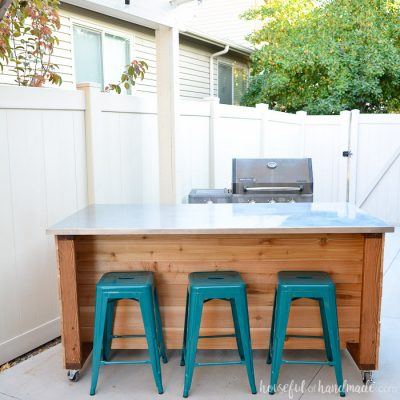 Outdoor Kitchen Island Build Plans