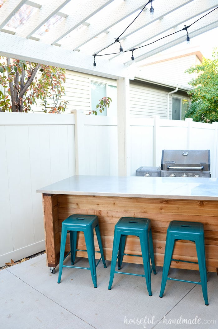 Outdoor Kitchen Island Build Plans - Houseful of Handmade