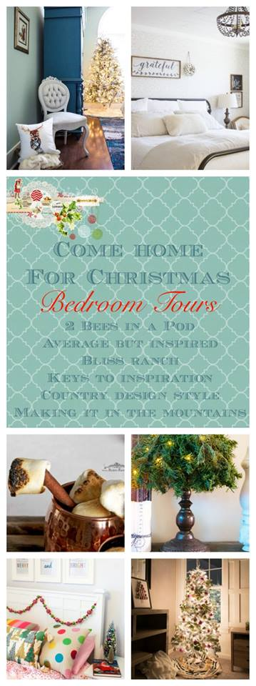 See how your favorite bloggers decorated their homes for Christmas with these Christmas home tours. Bedroom tours. Housefulofhandmade.com